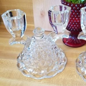 Vintage Accents - 💖💖Imperial Glass Double Candlesticks